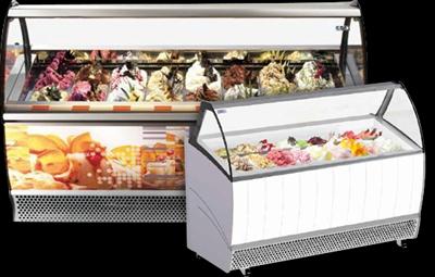 Soft Scoop Ice Cream Display Freezers